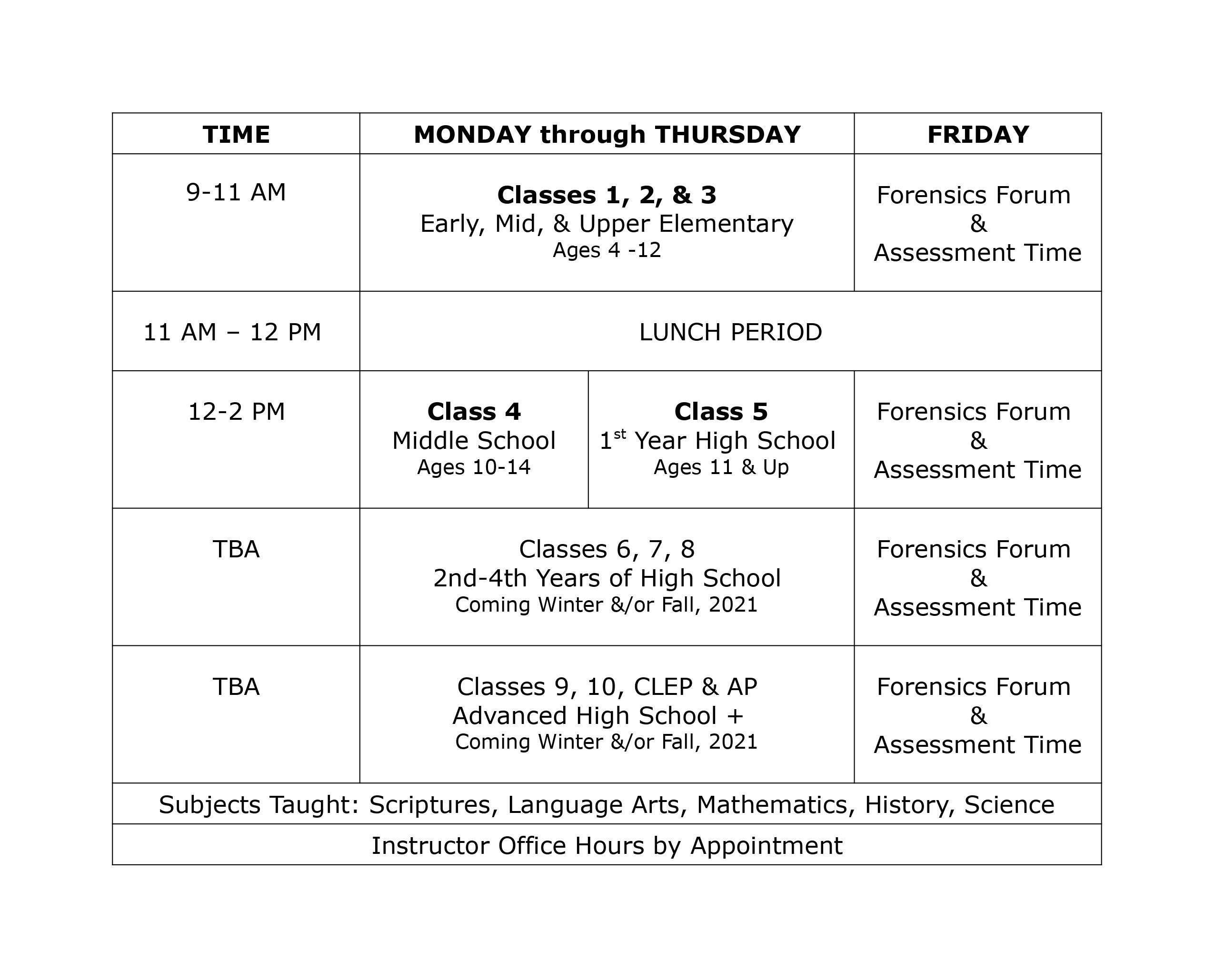 New Live Classes Grid09-17